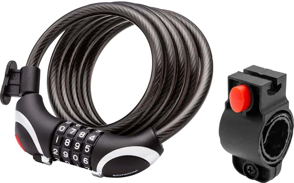 Schwinn 5′ Cable Combination Lock with Light